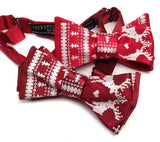 Red Ugly Holiday Sweater bow ties