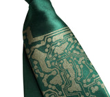 kids clip-on circuit board tie. emerald green