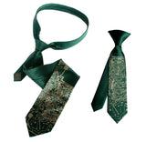 Father and son circuit board ties. emerald green