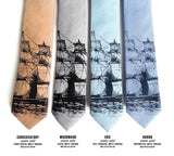 Clipper Ship Linen Neckties, by Cyberoptix. Nautical Print Men's Ties
