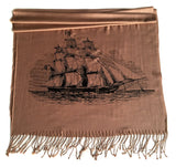 Camel Clipper Ship scarf, by Cyberoptix