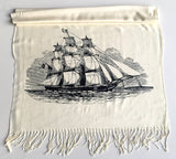 Cream sailing ship scarf, by Cyberoptix