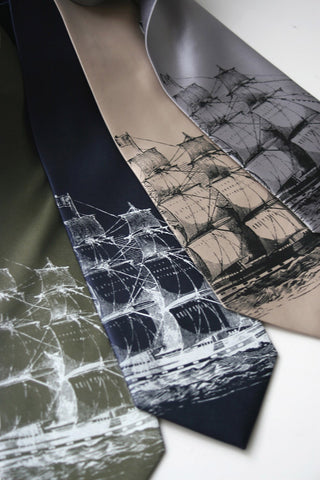 Clipper Ship Silk Necktie