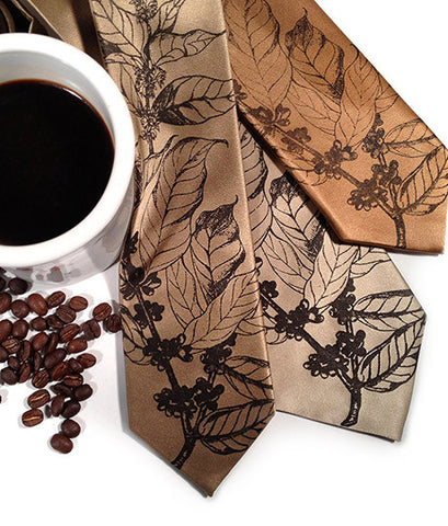 Coffee Bean Silk Necktie