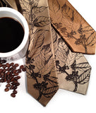 Coffee Bean Neckties. Espresso on latte, champagne, pale copper.