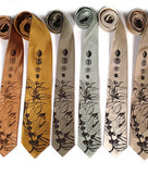 Coffee Bean Neckties, espresso print.