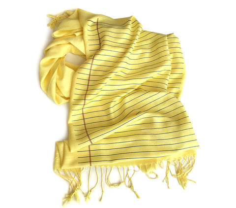 College Ruled Scarf. Lined Paper pashmina