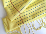 Lined paper scarf: butter.
