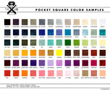 Vegan Pocket Square color chart, Cyberoptix