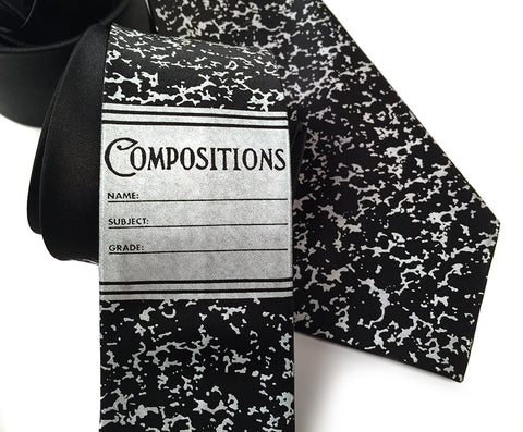 Composition Book Silk Necktie
