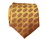 Gold Silk Hot Dog Print Tie, by Cyberoptix