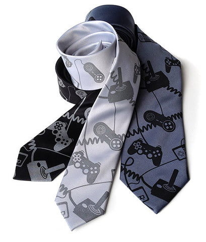 Video Game Controllers Necktie. Control Freak tie