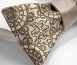 Cottage Lace Print Bow Tie, By Cyberoptix. Antique brass on a champagne bow tie.