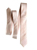 cotton candy pink woven herringbone silk necktie, by cyberoptix