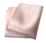 Cotton candy pink woven herringbone silk pocket square, by Cyberoptix