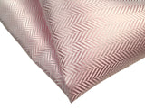 Light pink woven herringbone silk pocket square, by Cyberoptix