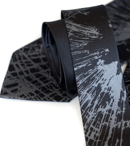 "Shattered Glass Silk Necktie. ""Crash"" tie"