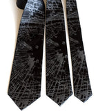 Black Shattered Glass neckties: standard, narrow and skinny size.