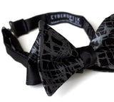Shattered Glass bow tie. Black pearl on black.