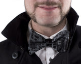Black Shattered Glass bow tie.