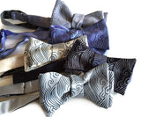 Japanese wave motif bow ties
