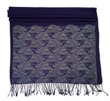 Navy Blue Crashing Waves scarf