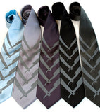 Cut throat neckties, dove grey print