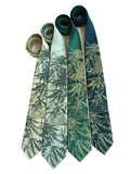 Marijuana neckties. Cannabis leaf printed green ties. Cyberoptix