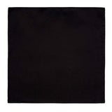 Solid Black Pocket Square. Satin Finish, No Print. By Cyberoptix