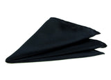 Black Pocket Square. Solid Color Satin Finish, No Print, by Cyberoptix