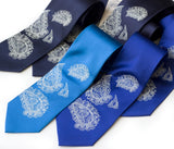 cyberoptix custom printed paisley wedding ties
