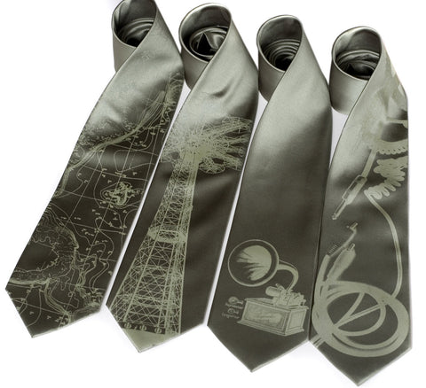 Custom Color Printed Neckties, Standard or Narrow Size