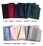 Herringbone Silk Pocket Squares, by Cyberoptix. Plain, solid color pocket silk
