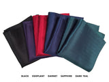 Jewel Tone Herringbone Silk Pocket Squares, by Cyberoptix. Plain, solid color pocket silk