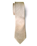 "Khaki Silk & Linen Necktie, ""Packard"" solid color tie, by Cyberoptix"