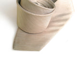 "Khaki Linen Necktie, light tan ""Packard"" solid color tie, by Cyberoptix"