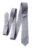 Light grey linen necktie, Cyberoptix. Woodward gray linen silk blend woven tie