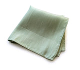 "Cyberoptix Mint Green Linen Pocket Square, ""Spirit"" of Detroit"