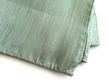 "Cyberoptix shot silk Mint Green Linen Pocket Square, ""Spirit"" of Detroit"
