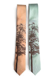 Custom Printed Linen Ties, Modern Cut