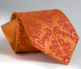 orange groomsmen wedding tie, cyberoptix