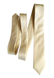 Solid cream woven herringbone silk necktie, by Cyberoptix