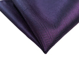 Eggplant Purple silk pocket square, by cyberoptix. Dark purple herringbone silk