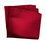Garnet Red Herringbone Silk Pocket Square, by Cyberoptix. Plain, solid color pocket silk
