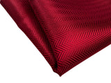 Deep red Herringbone Silk Pocket Square, by Cyberoptix. Plain, solid color pocket silk