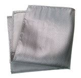 Silver Herringbone Silk Pocket Square, by Cyberoptix. Plain, solid color pocket silk