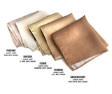 Tan Linen pocket squares, by Cyberoptix