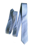 Cyberoptix powder blue wedding tie, woven herringbone silk necktie