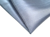 Powder blue woven herringbone silk wedding pocket square, by Cyberoptix