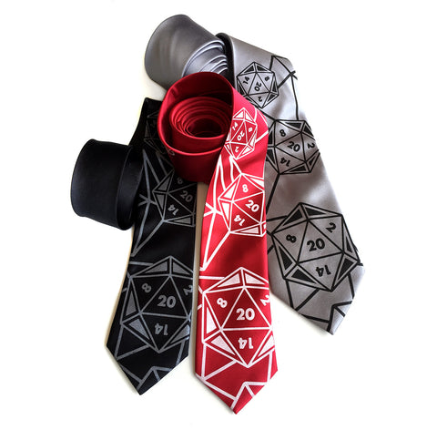 d20 Dice Necktie, Twenty Sided Tie